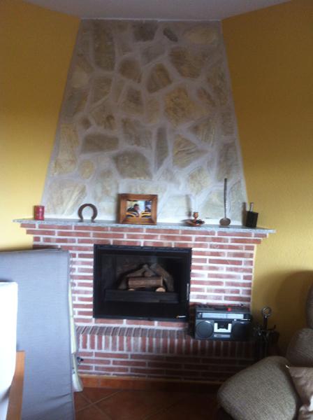 instalacin de estufa en chimenea de obra en toledo y madrid